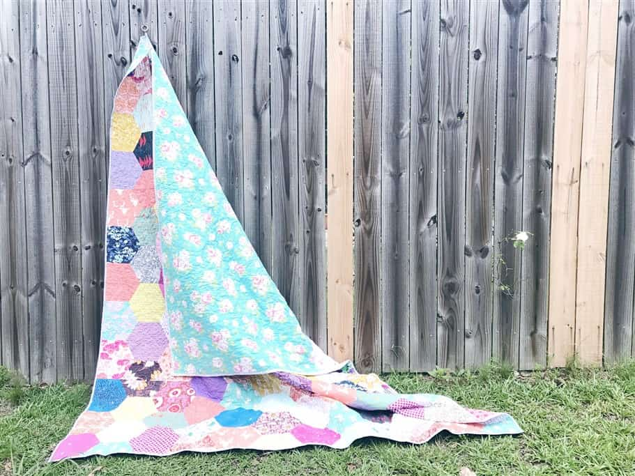 How to use the Hex N More Ruler to cut half hexies +  Quilt Reveal – Hexagon quilt #7