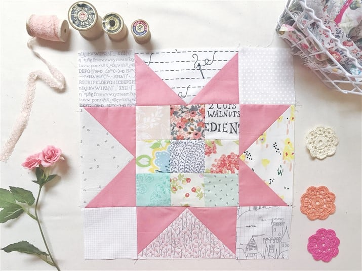 Little Miss Sawtooth Stars Quilt Along – Block 5 – Olivia