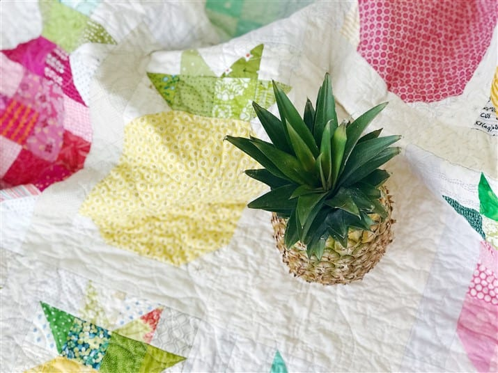 Emerge Circle – Pineapple Parade Quilt (quilt reveal) + a FREE quilt pattern