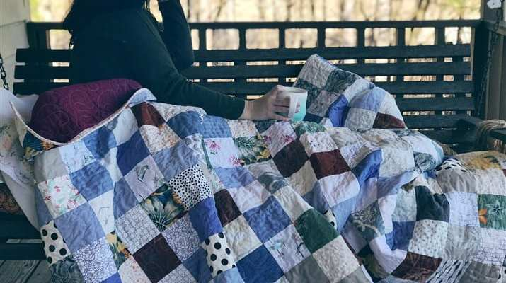 Quilt Reveal – Tiny Patch Quilt – made with clothing