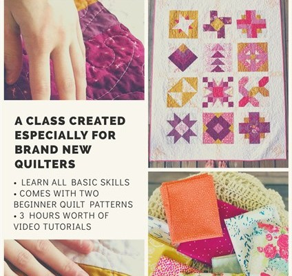 Evening Walk Quilt Reveal + My New Patchwork + Quilt class for beginners