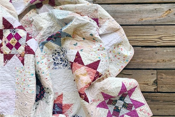 Quilt Reveal – Little Miss Sawtooth Quilt – #8 – The Sunset One