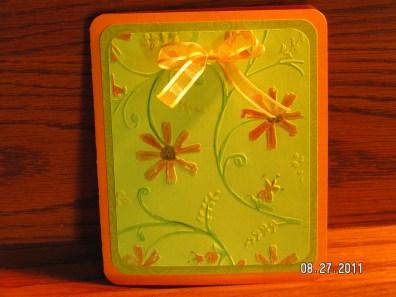 Late Summer Card - Stylized Flowers Cuttlebug folder