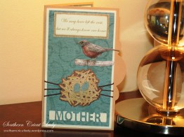 A Robin's Nest Mother's Day Card