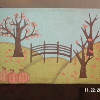 A Quiet Autumn Scene - Thanksgiving Card