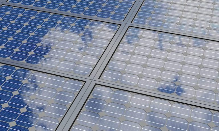 Detail of solar panels