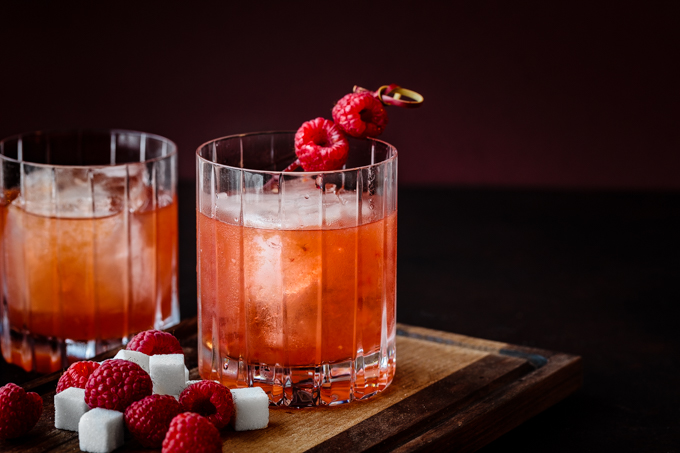 Raspberry Rye Old Fashioned   Southern FATTY Raspberry Rye Old Fashioned Cocktail