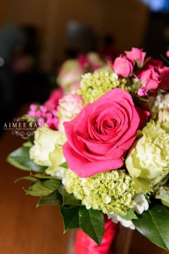 Rose in bridal bouquet