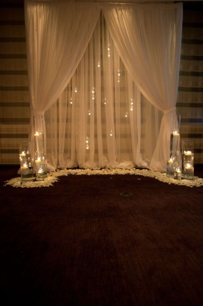Wedding Draping with Floating Candles