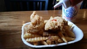 Shrimp Boat Chicken Tender Plate with Fries