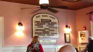 The menu at Mama's Farmhouse