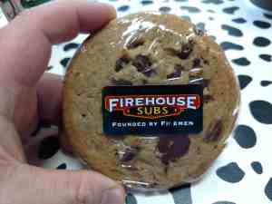 Chocolate Chip Cookie from Firehouse subs