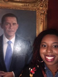 Plus I took a selfie with POTUS Barack Obama