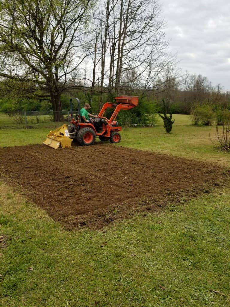 Planting a Vegetable Garden, Plowing a garden, Hiring a neighbor with a tractor, Garden Preparation