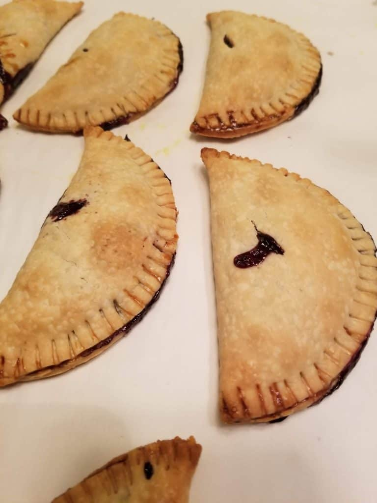 Using Garden Produce, Blueberries, Blueberry hand pies