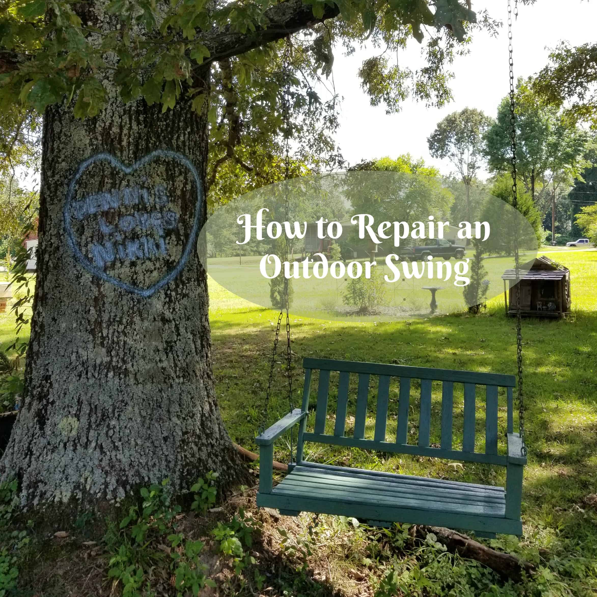 Outdoor swing repair