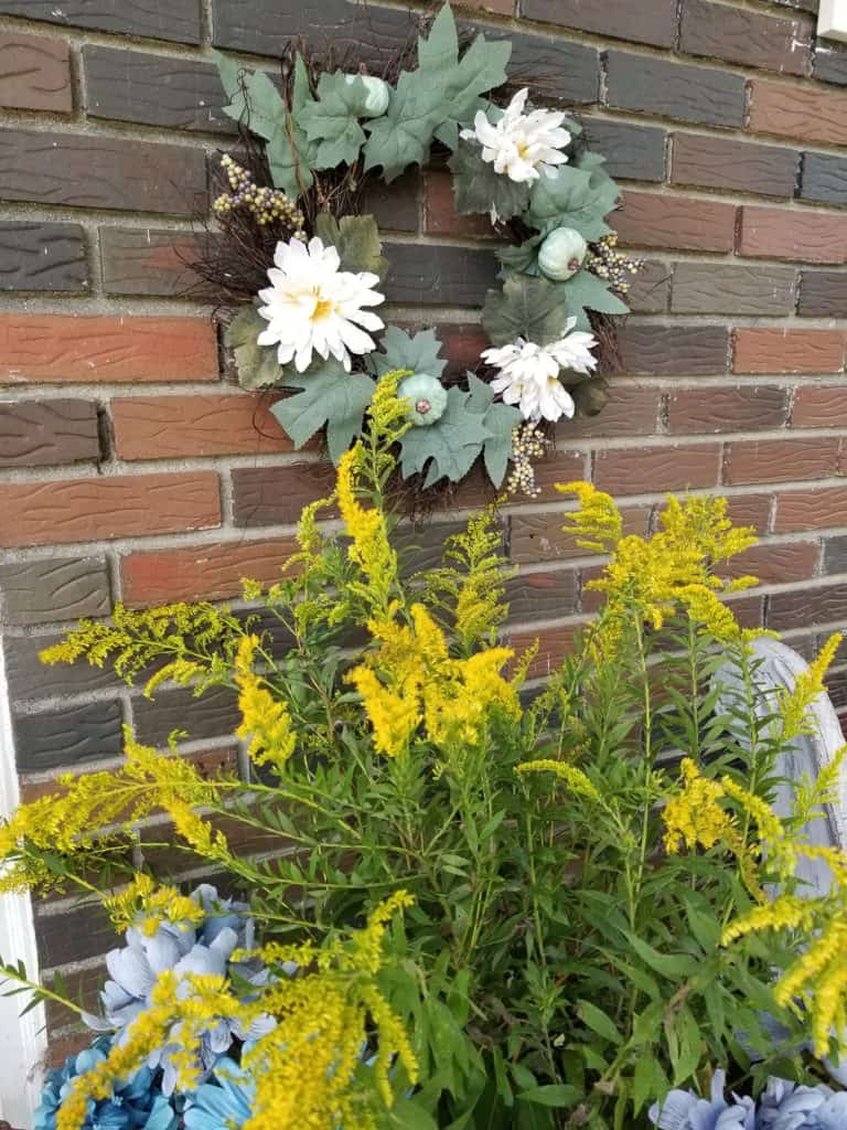 Update Past Front Porch Fall Decor, Fall Decor with Goldenrod