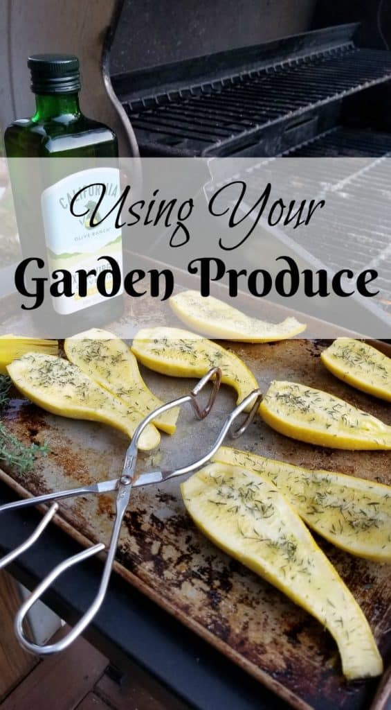 Easy Grilled Squash, Using your Garden Produce, Easy recipes from the garden