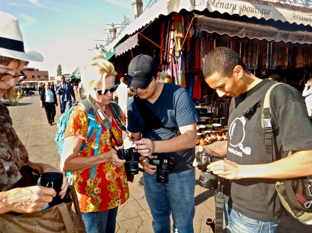 Choosing settings for the study of light and dark the souks provide. Photo by Kate Woods