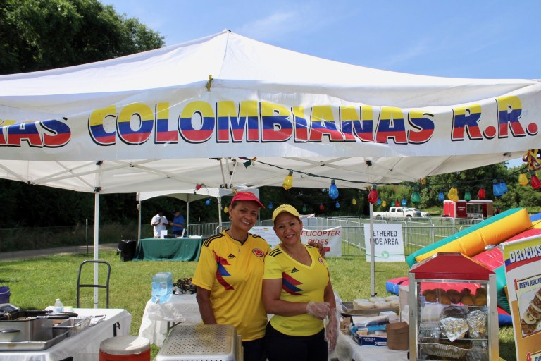 Colombian ladies providing food at Victory Cup Nashville