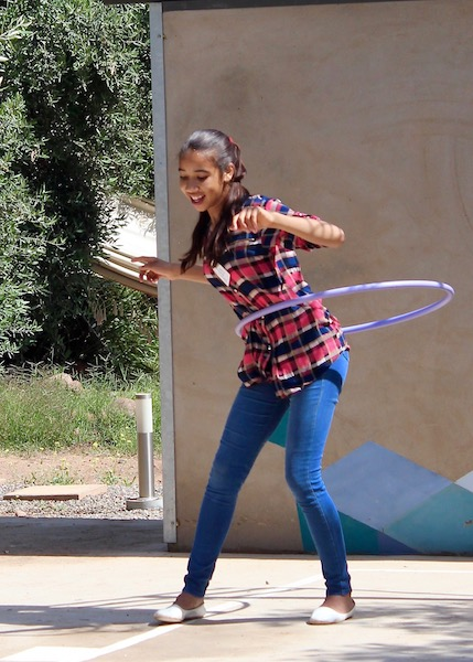 Girls get a sports, arts, and health education at Project SOAR in Marrakesh, Morocco.