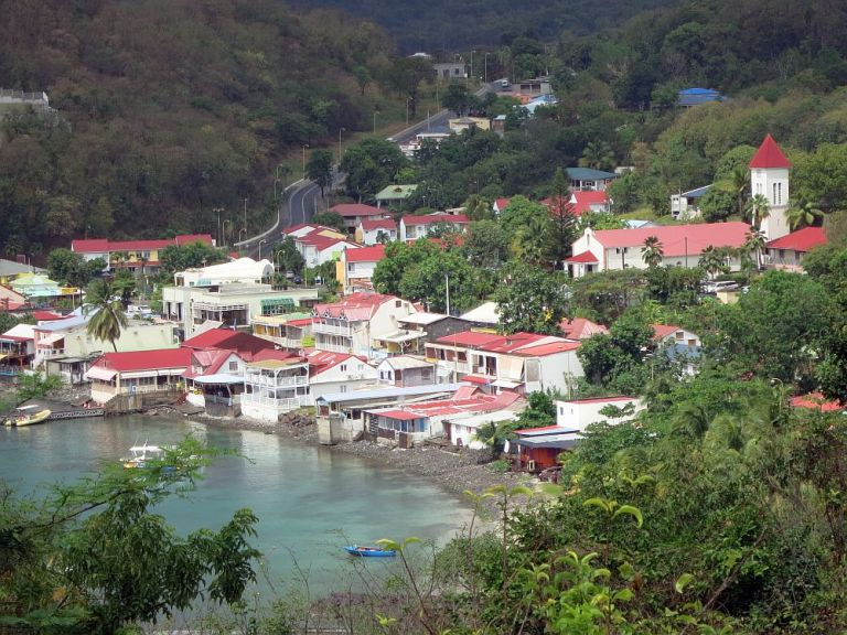 Deshaies view in Guadeloupe