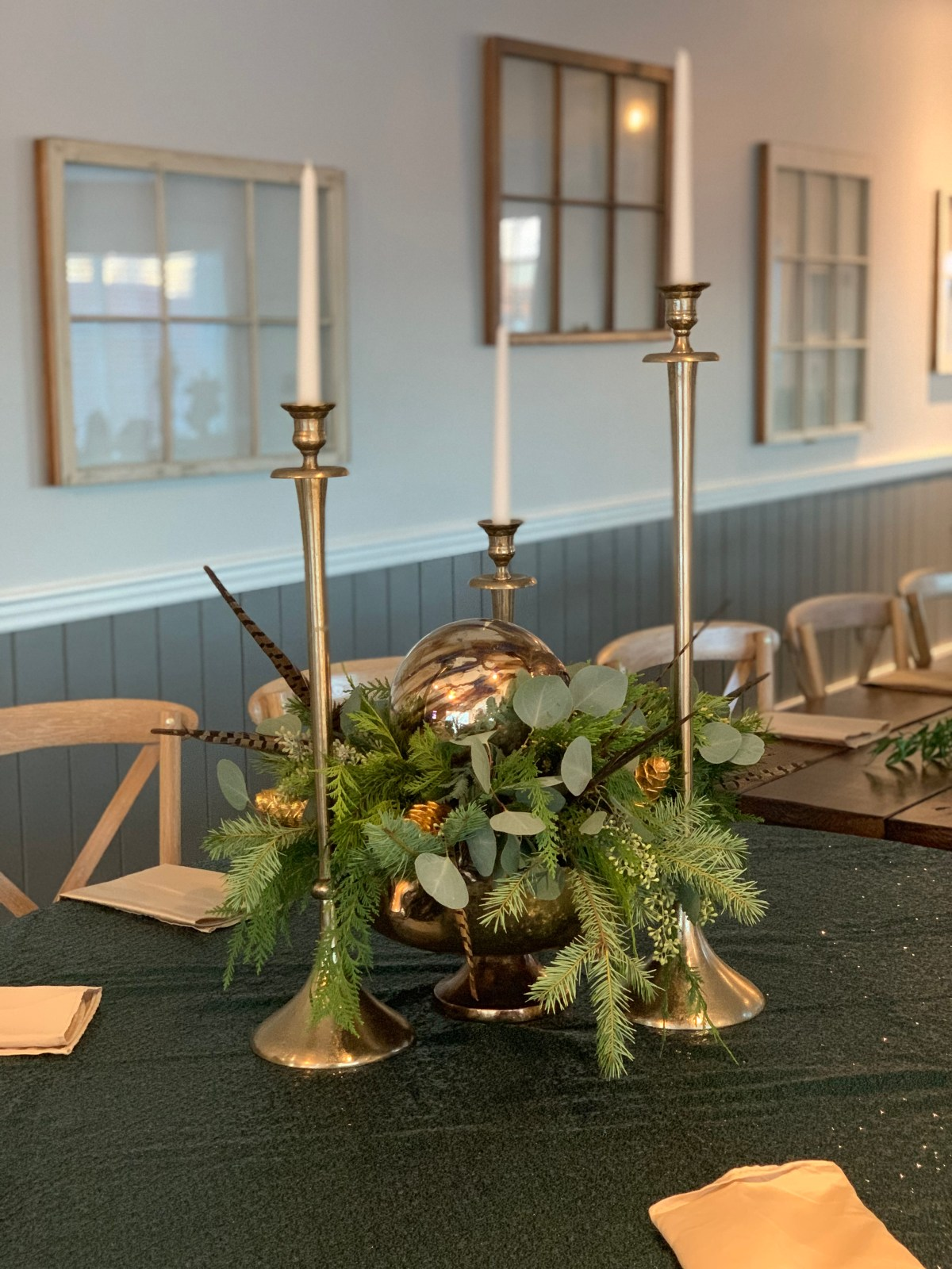 mercury glass christmas greens southern grace florist