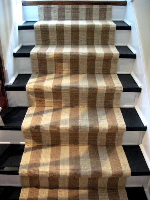 removing carpet and painting stairs
