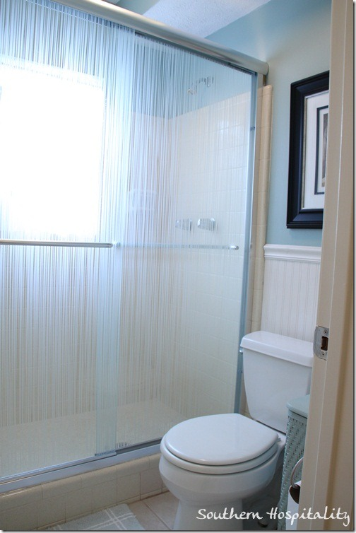 shower with new doors