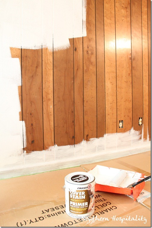 paint old paneling primer