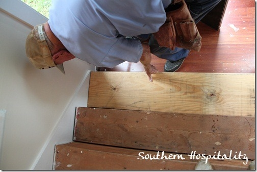 Week 20 How To Install New Stair Treads Southern Hospitality | Installing Hardwood Stairs Over Existing Stairs | Prefinished Stair | Stair Tread Caps | Carpeted Stairs | Wood Flooring | Treads