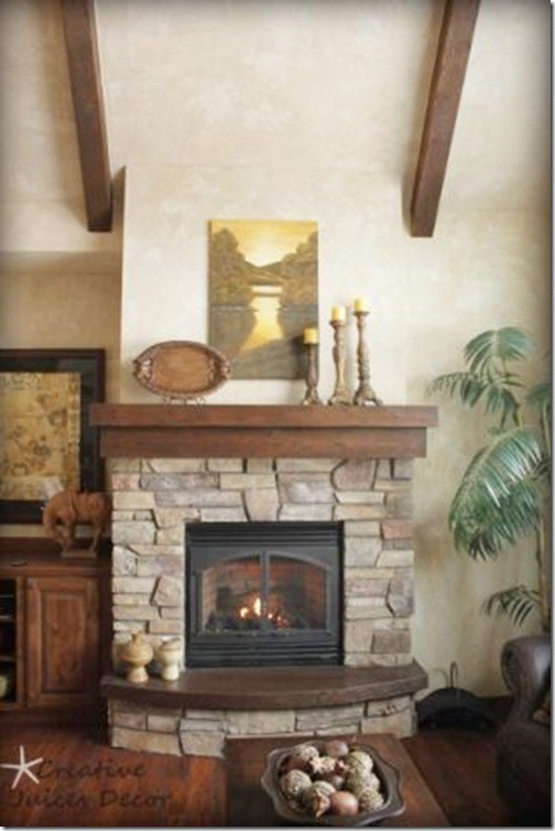 blog rustic fireplace mantle