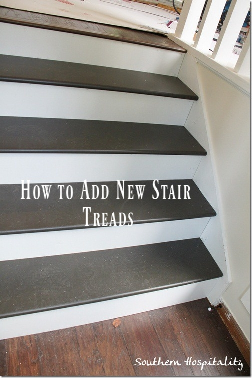 Week 20 How To Install New Stair Treads Southern Hospitality | Installing Hardwood Stair Treads | Stair Stringers | Prefinished Stair Nosing | Staircase Makeover | Laminate | Hardwood Flooring