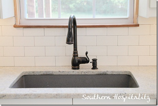 sink with subway tile