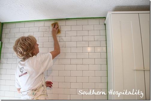 how to install subway tile backsplash