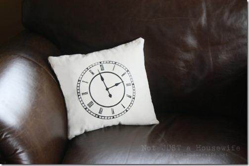 clock pillow Stacy