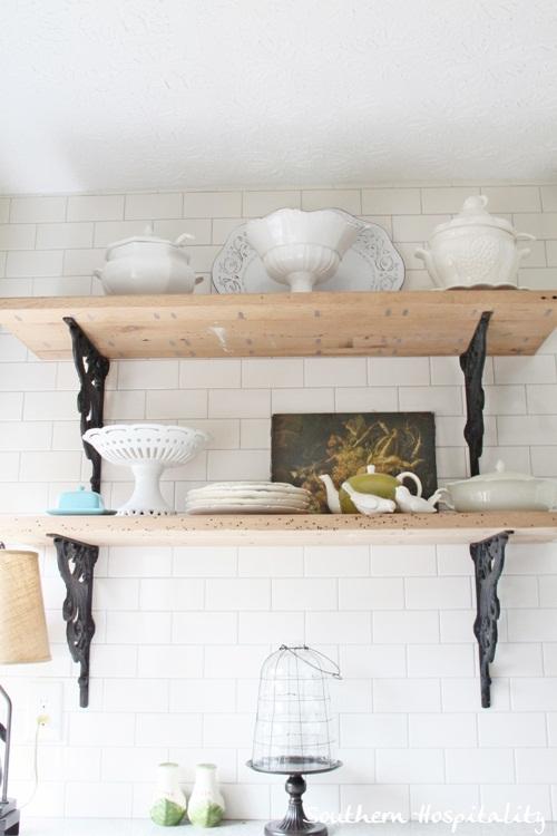 Ikea Kitchen Renovation rustic shelves