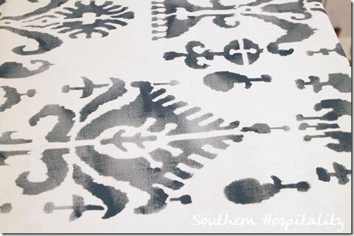 stencil up close after paint