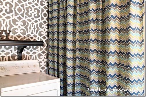 drapes and stencil
