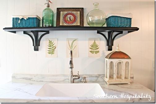 shelf over sink
