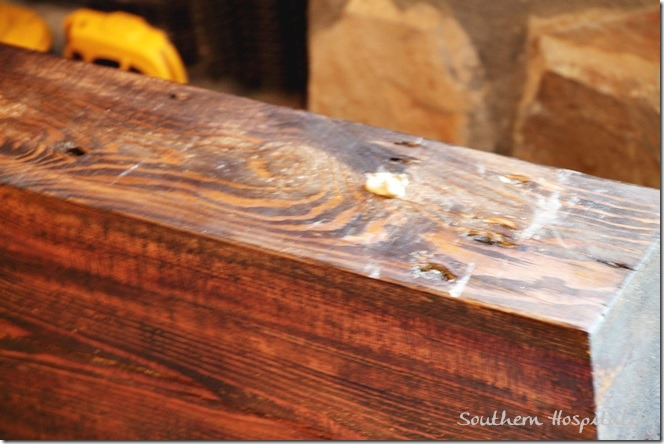 glue in holes on mantel