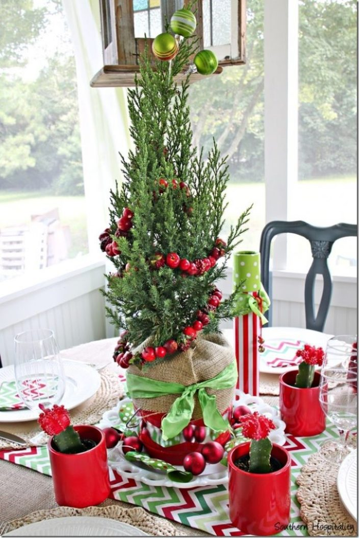 Fun and festive christmas centerpiece southern hospitality