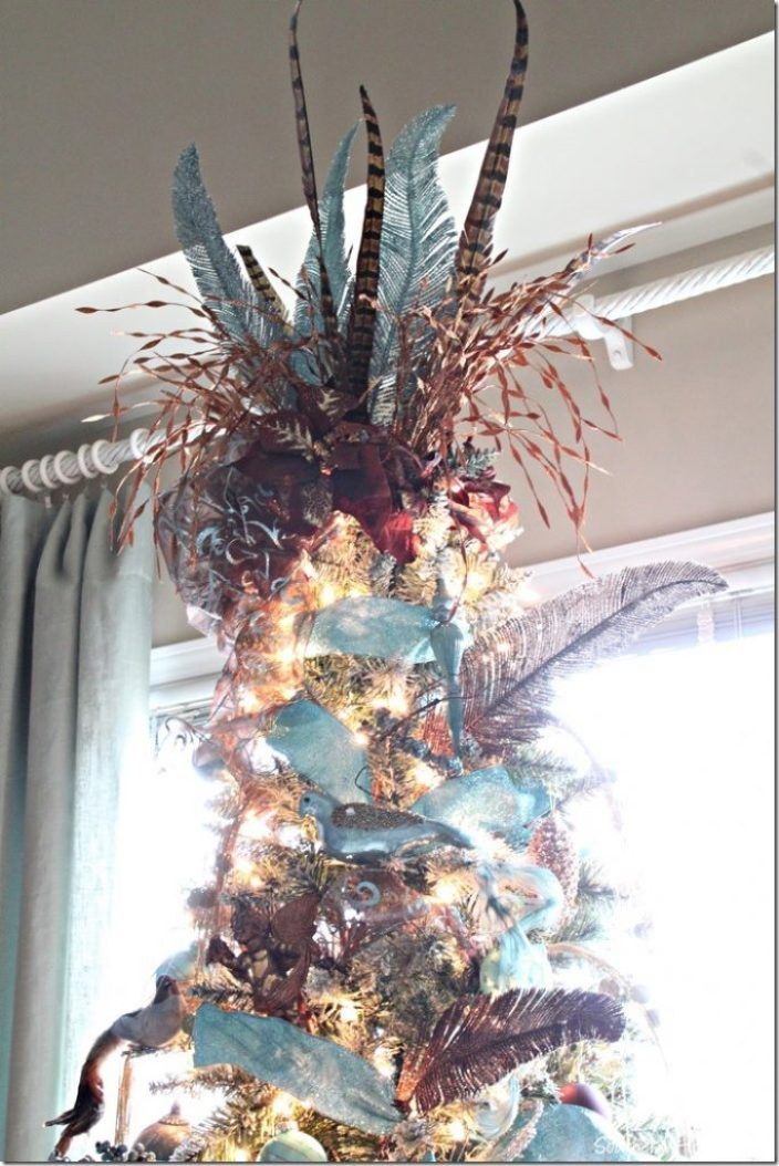 blue tree topper