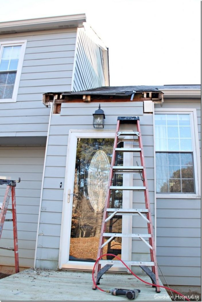 cutting into roof for porch portico