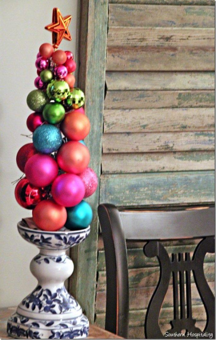 multi color ornament tree