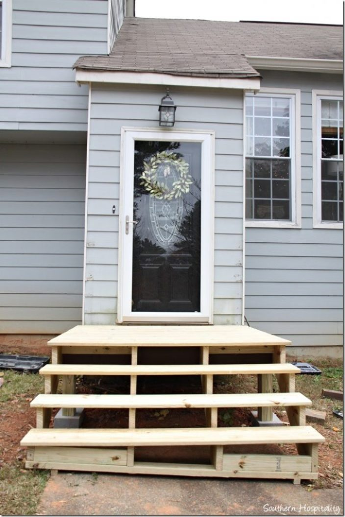 platform and stairs new front porch