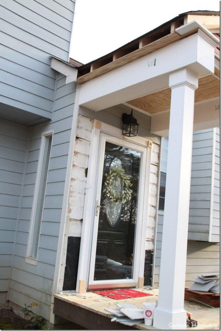 side view porch trim