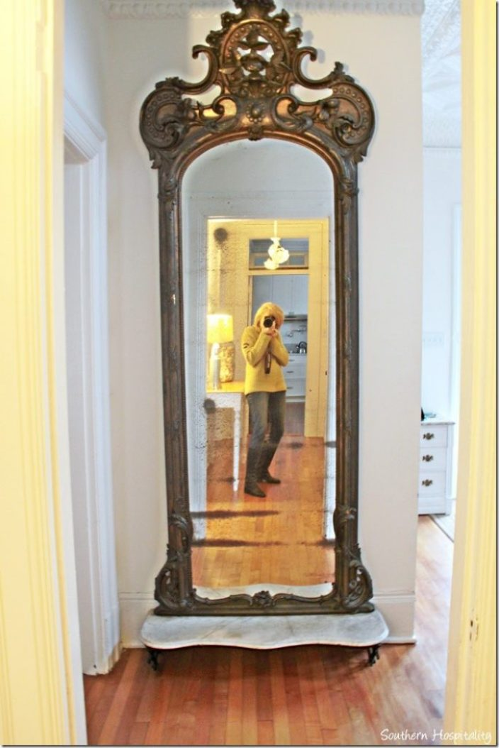 white caps hall mirror
