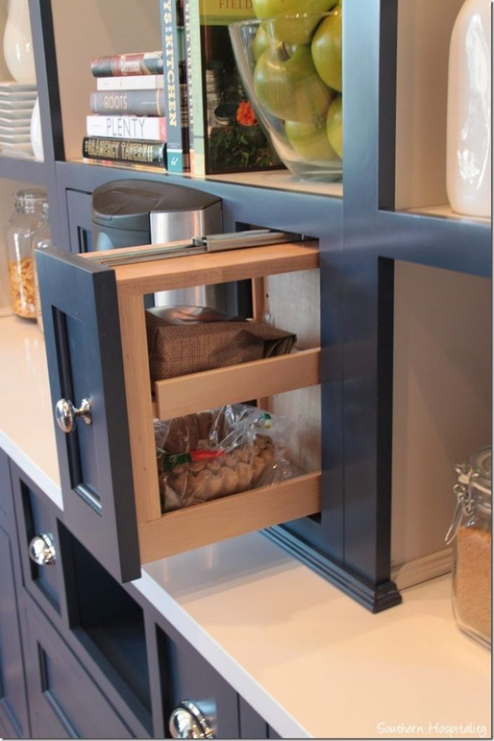 drawers in kitchen hutch