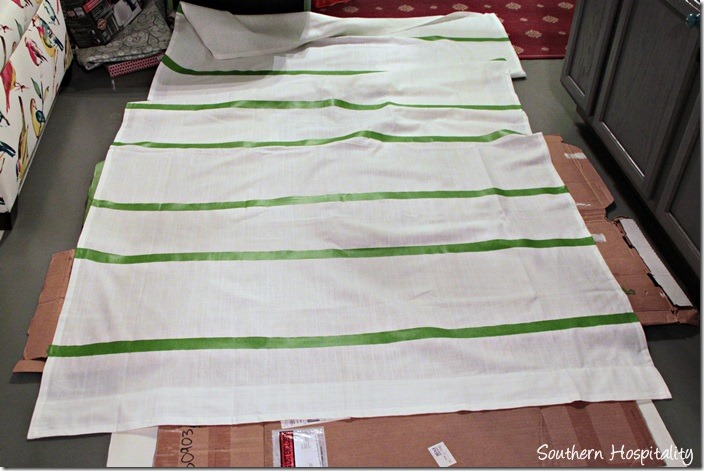 stripes taped off
